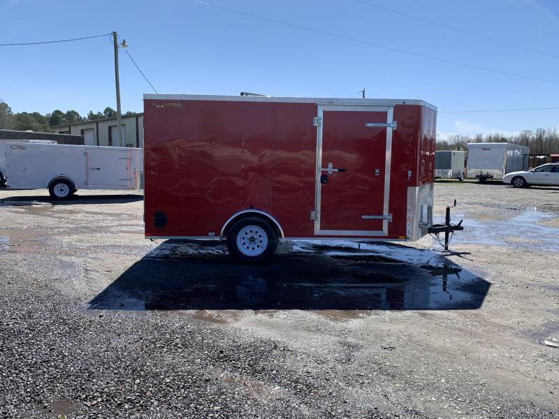 2019 Doolittle Trailer Mfg 6x12SA Red Ramp Door Enclosed Cargo Trailer
