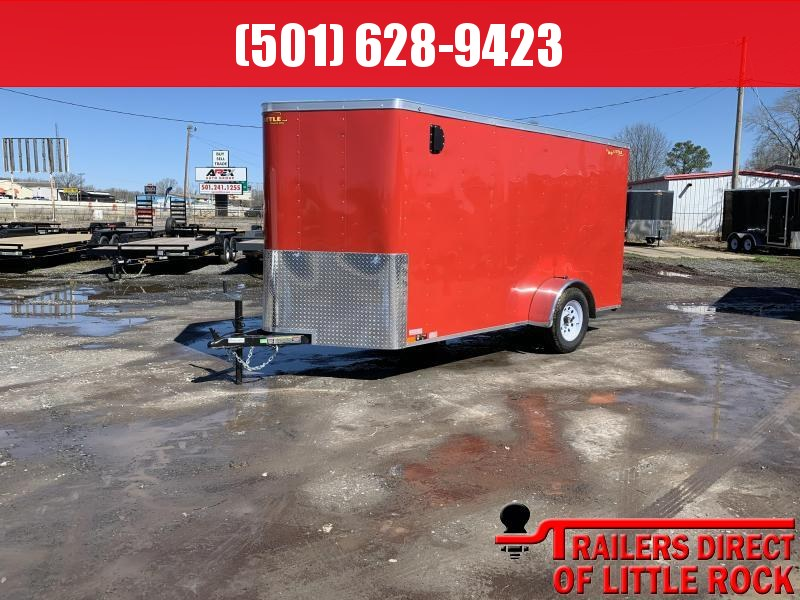 2019 Doolittle Trailer Mfg 6x12SA Red Ramp Door Enclosed Cargo Trailer