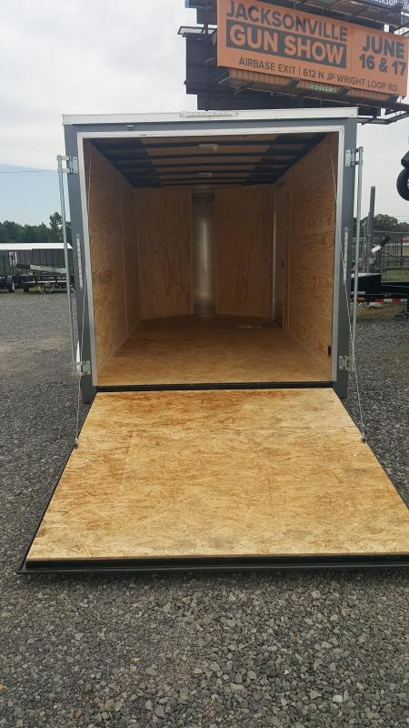 2018 Doolittle Trailer Mfg Bullitt 7x14TA Gray Ramp Door Enclosed Cargo Trailer