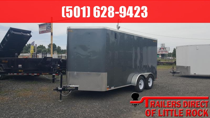 2018 Doolittle Trailer Mfg Bullitt 7x14TA Gray Ramp Door Enclosed Cargo Trailer