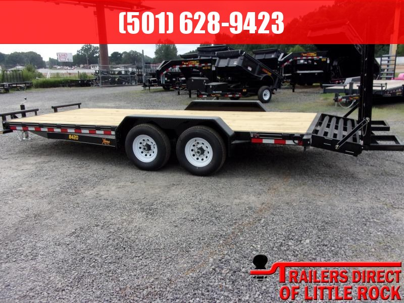 2019 Doolittle Trailer Mfg Xtreme 84x20 9800LB Flip Up Ramps Equipment Trailer in Lula, MS