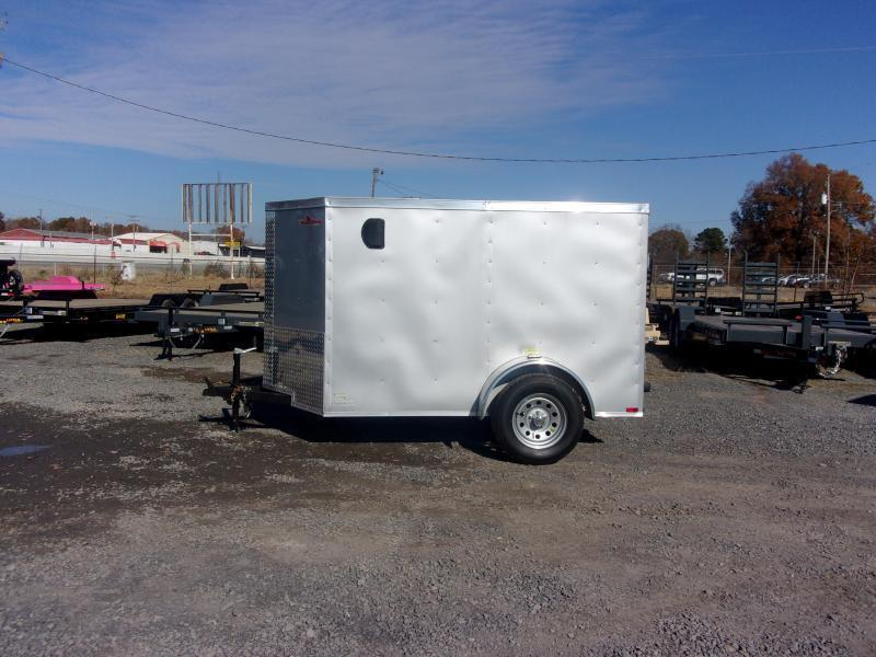 2019 Doolittle Trailer Mfg Razorback 5x8SA Silver Ramp Door Enclosed Cargo Trailer