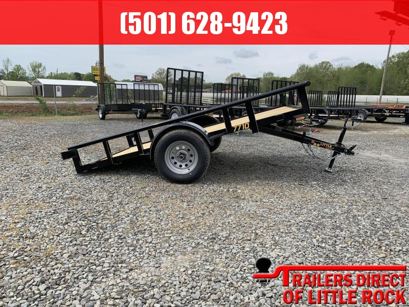 2019 Doolittle Trailer Mfg Pipe Top 77x10 Full Tilit Utility Trailer