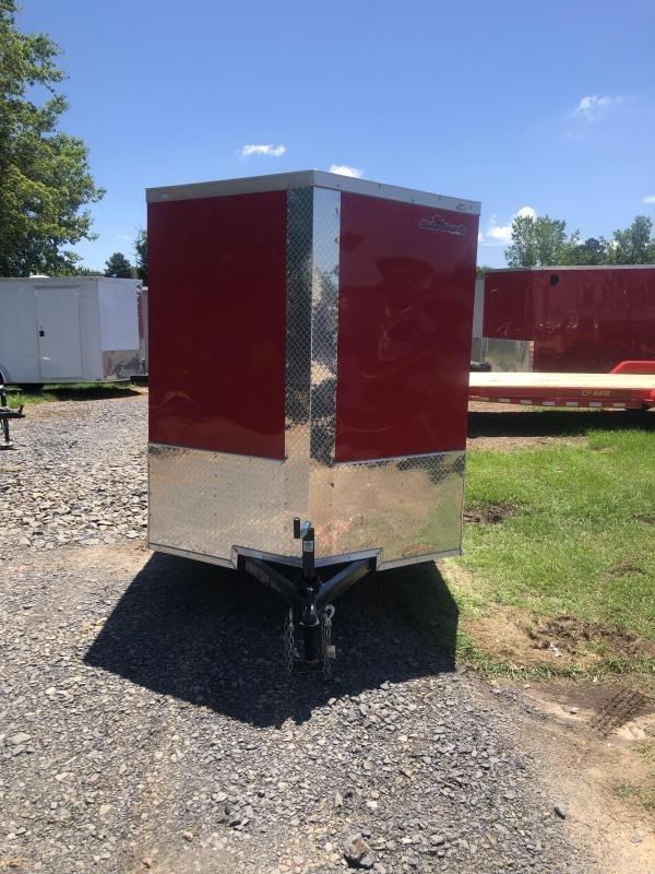 2019 Doolittle Trailer Mfg Razorback 6X12SA  RED BARN DOOR Enclosed Trailer