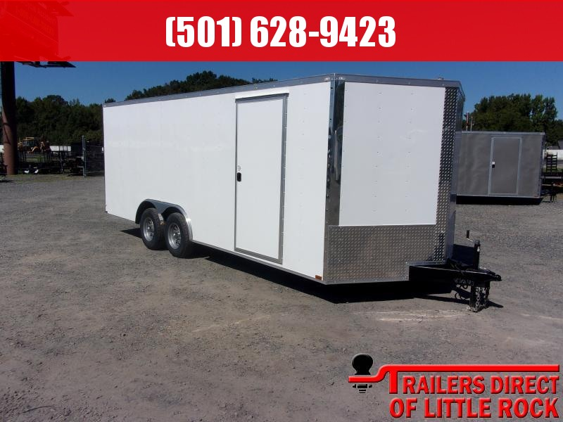 2018 Doolittle Razorback 8.5x20TA3 White Ramp Door Enclosed Cargo Trailer