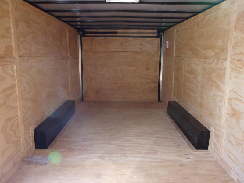2018 Doolittle Razorback 8.5x20TA3 White Ramp Door Enclosed Cargo Trailer