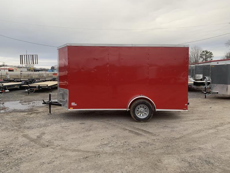 2019 Doolittle Trailer Mfg Razorback 6x12SA Red Barn Door Enclosed Cargo Trailer