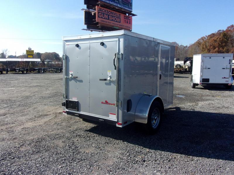 2019 Doolittle Trailer Mfg Razorback 5x8SA Silver Ramp Door Enclosed Cargo Trailer
