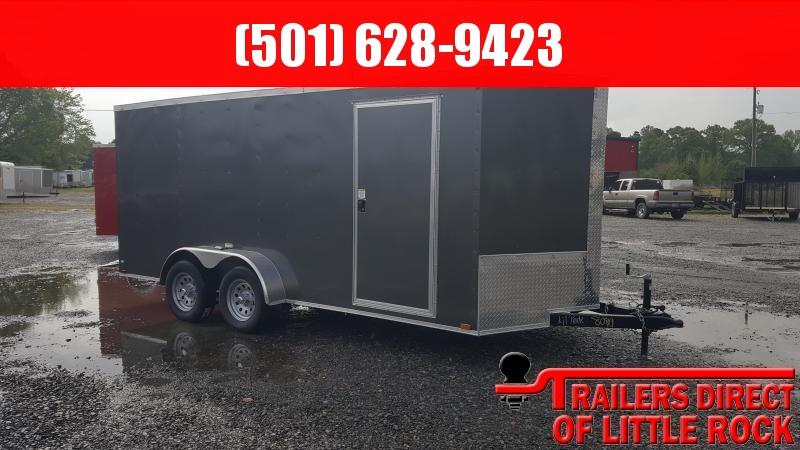 2018 Doolittle Trailer Mfg Razorback 7X16TA Charcoal Barn Door Enclosed Cargo Trailer in Ashburn, VA