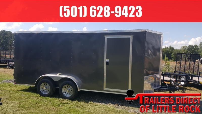 2018 Doolittle Trailer Mfg Razorback 7X16TA Charcoal Barn Door Enclosed Cargo Trailer in AR