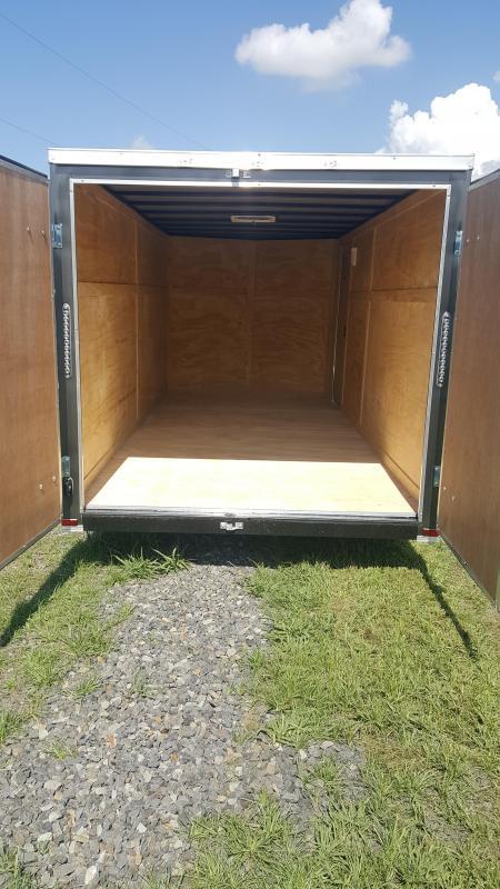 2018 Doolittle Trailer Mfg Razorback 7X16TA Charcoal Barn Door Enclosed Cargo Trailer