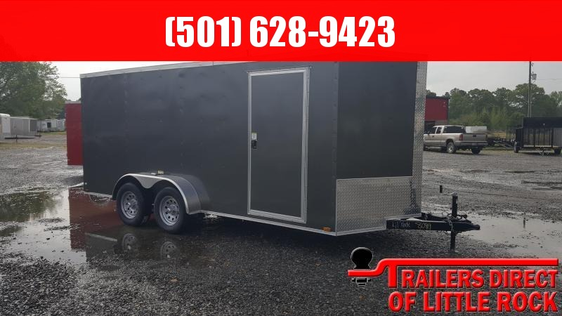2018 Doolittle Trailer Mfg Razorback 7X16TA Charcoal Barn Door Enclosed Cargo Trailer