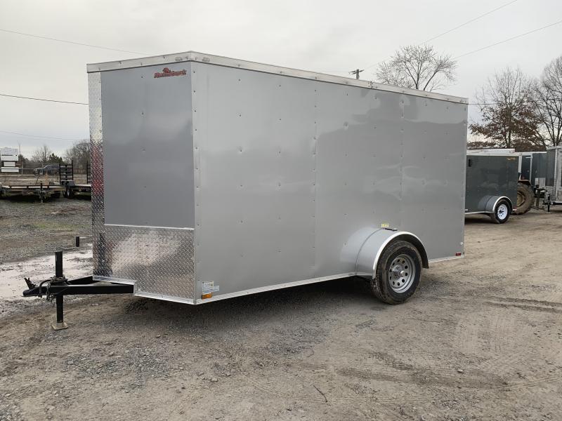 2019 Doolittle Trailer Mfg Razorback 6X12SA Silver Ramp Door Enclosed Trailer