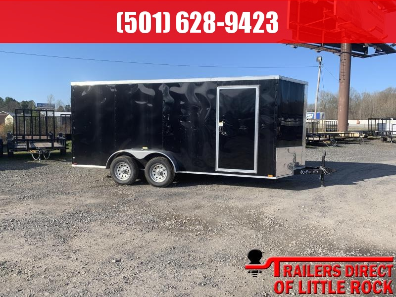 2019 Doolittle Trailer Mfg Razorback 7X16TA Black Barn Door Enclosed Cargo Trailer