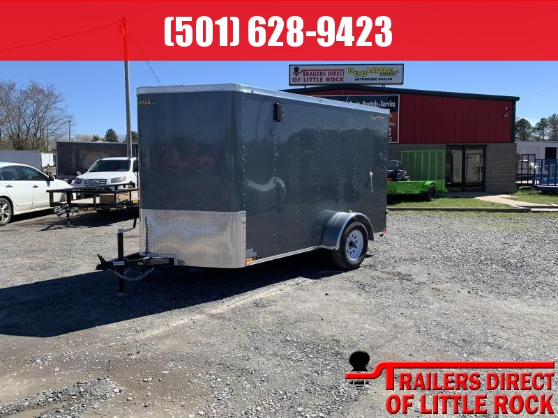 2019 Doolittle Trailer MFG. 6x10 Gray Ramp Door Enclosed Trailer