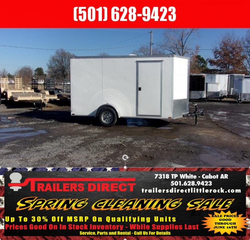 RED TAG SALES EVENT!! 2018 Doolittle Trailer Mfg Razorback 6x12SA White Barn Door Enclosed Cargo Trailer