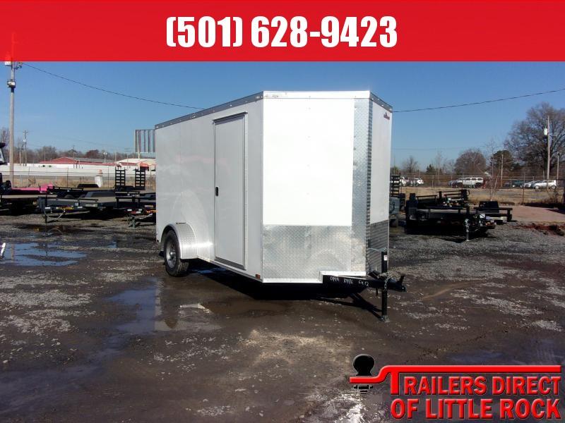 2018 Doolittle Trailer Mfg Razorback 6x12SA White Barn Door Enclosed Cargo Trailer