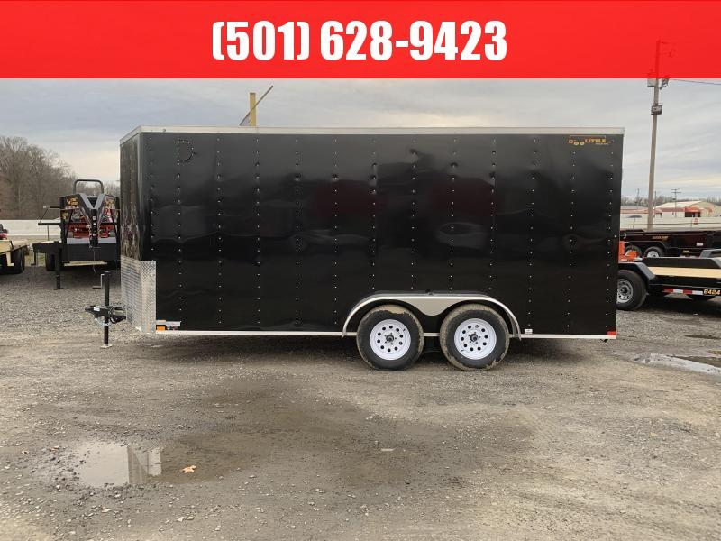 2019 Doolittle Trailer Mfg Bullitt 7x14TA Black Ramp Door Enclosed Cargo Trailer