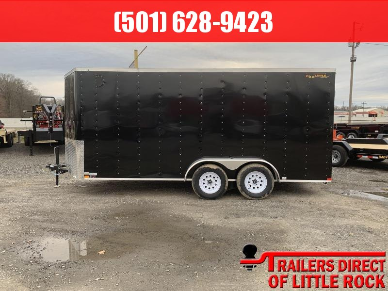 2019 Doolittle Trailer Mfg Bullitt 7x16 TA Black Ramp Door Enclosed Cargo Trailer