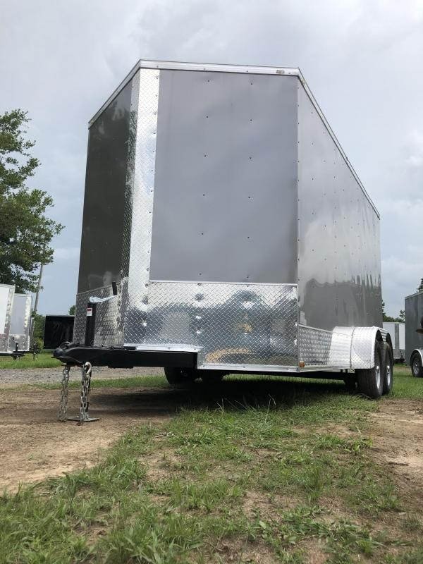 2019 Doolittle Trailer Mfg 2019 DOOLITTLE RAZORBACK 7X14TA Pewter Ramp Door Enclosed Cargo Trailer 12