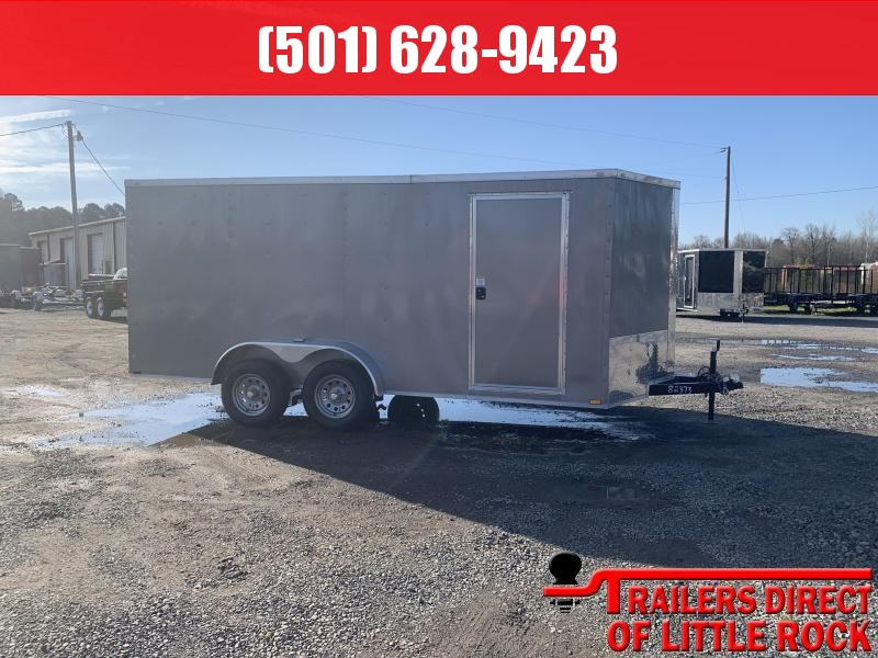2019 Doolittle Trailer Mfg Razorback 7X16TA Pewter Ramp Door Enclosed Cargo Trailer