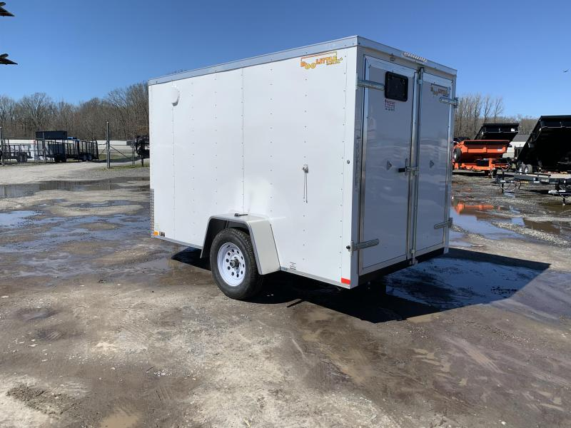 2019 Doolittle Trailer Mfg 6x10SA White Barn Door Enclosed Cargo Trailer