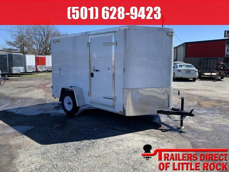 2019 Doolittle Trailer Mfg 6x10SA White Barn Door Enclosed Cargo Trailer