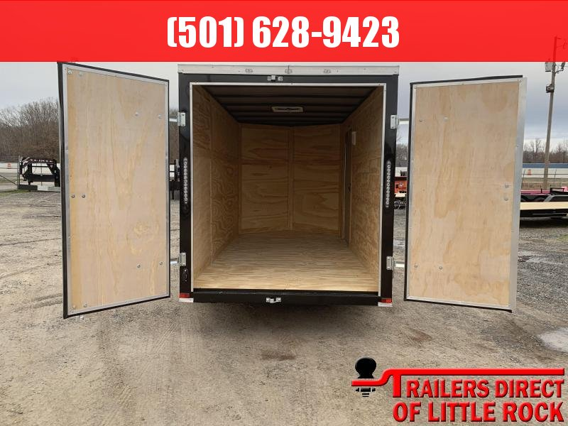 2019 Doolittle Trailer Mfg Razorback 6X12SA  CHARCOAL BARN DOOR Enclosed Trailer