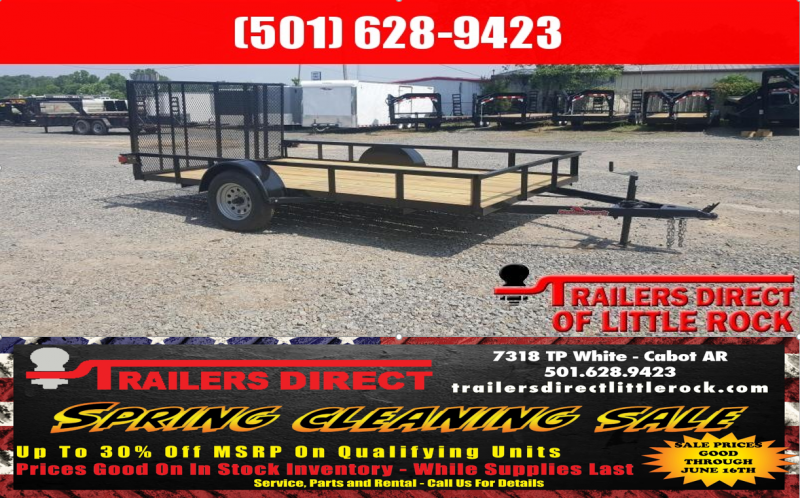 RED TAG SALES EVENT!! 2018 Doolittle Trailer Mfg Razorback 6.5x14 Utility Trailer