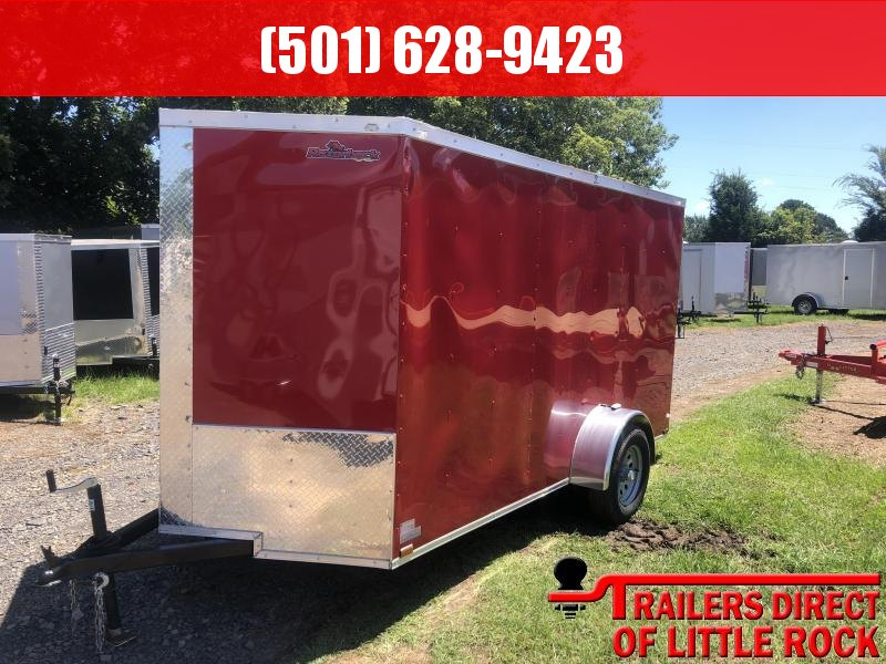 2019 Doolittle Trailer Mfg Razorback 6X12SA  RED RAMP DOOR Enclosed Trailer
