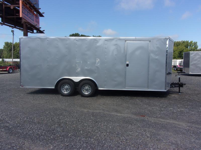 2018 Doolittle Razorback 8.5x20TA3 Silver Ramp Door Enclosed Cargo Trailer