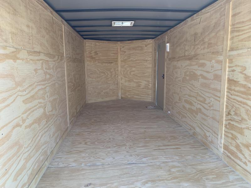 2019 Doolittle Razorback 7X16TA White Ramp Door Enclosed Trailer
