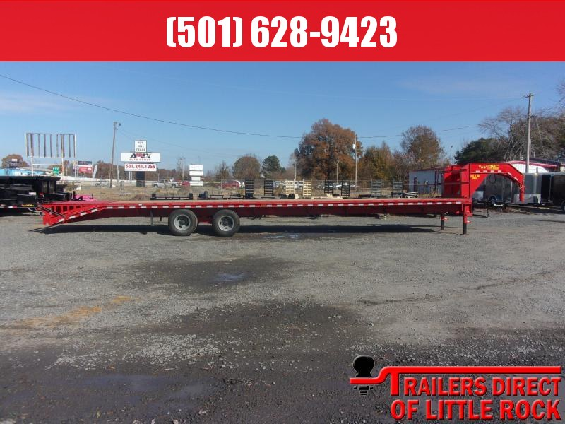 2019 Doolittle Trailer Mfg Brute Force 102x40 26k Red Flatbed Trailer