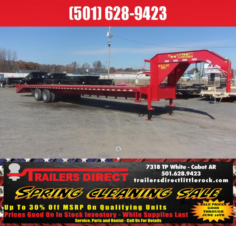 RED TAG SALES EVENT!! 2019 Doolittle Trailer Mfg Brute Force 102x40 26k Red Flatbed Trailer