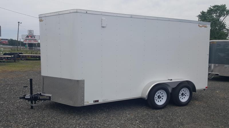2018 Doolittle Trailer Mfg Bullitt 7x14TA White Ramp Door Enclosed Cargo Trailer