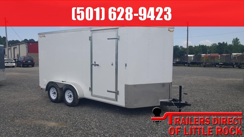2018 Doolittle Trailer Mfg Bullitt 7x14TA White Ramp Door Enclosed Cargo Trailer
