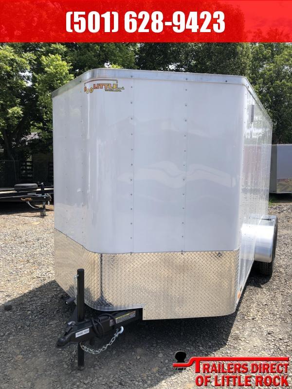 2018 Doolittle Trailer Mfg Cargo 7x14TA White Ramp Door Enclosed Cargo Trailer
