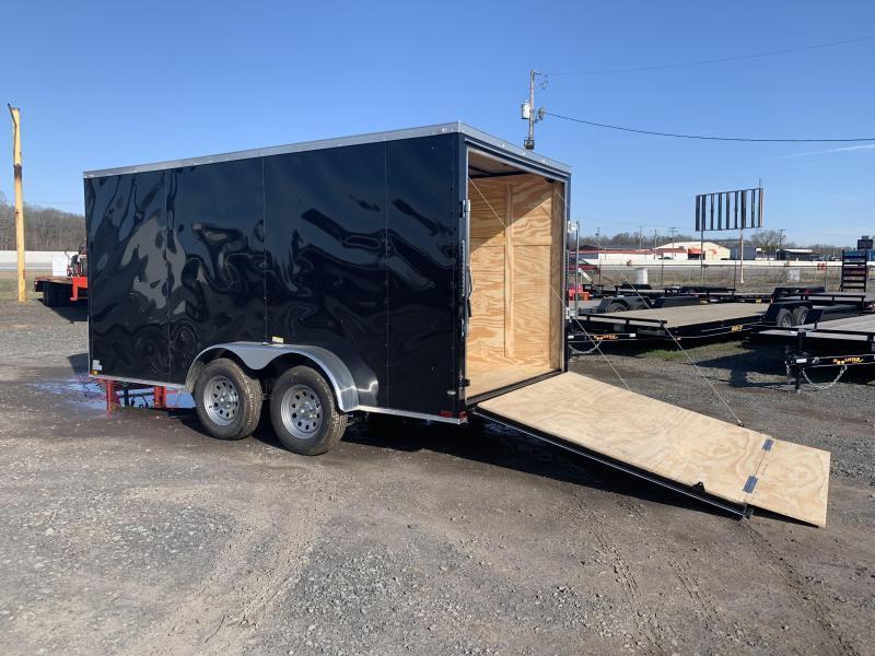 2019 Doolittle Trailer Mfg Razorback 7X16TA Black Ramp Door Enclosed Cargo Trailer