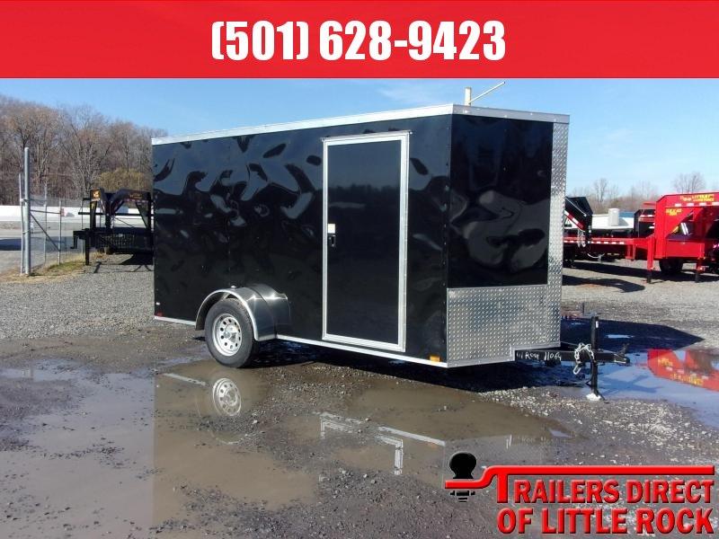 2019 Doolittle Trailer Mfg Razorback 6x12SA Black Ramp Door Enclosed Cargo Trailer