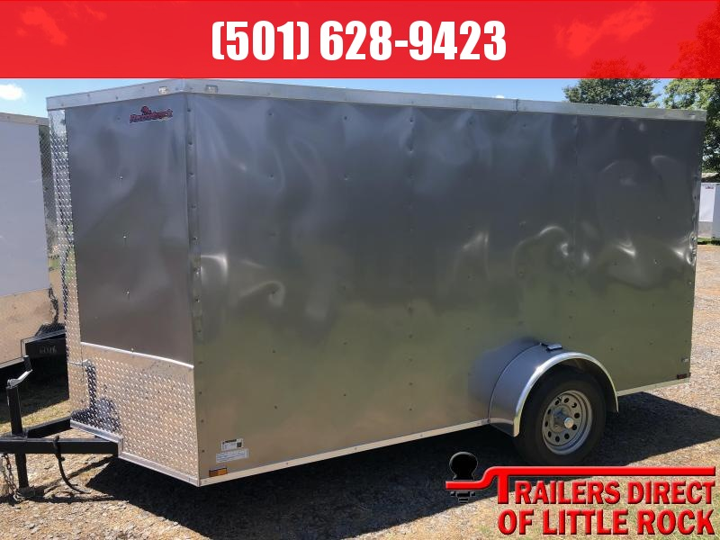 2019 Doolittle Trailer Mfg Razorback 6x12SA Pewter Ramp Door Enclosed Cargo Trailer
