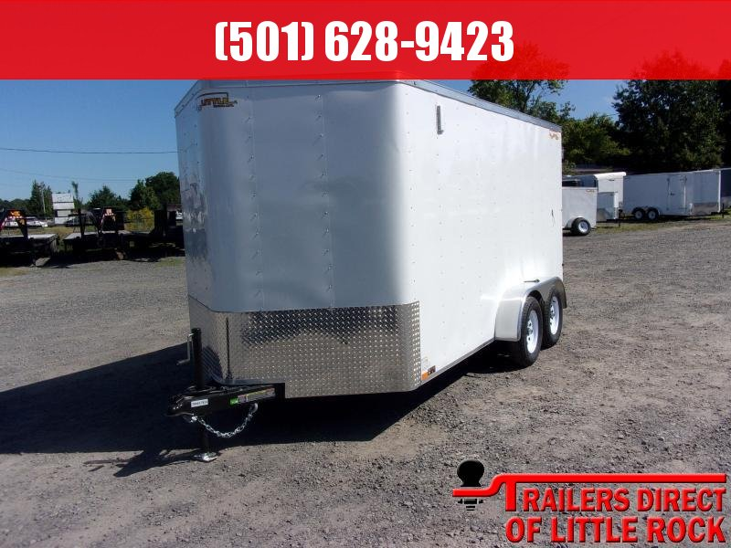 2018 Doolittle Trailer Mfg Bullitt 7x14TA White Barn Door Enclosed Cargo Trailer