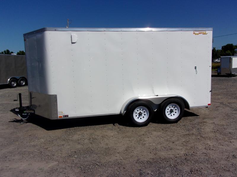 2018 Doolittle Trailer Mfg Bullitt 7x14TA White Barn Door Enclosed Cargo Trailer
