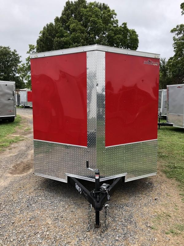 2019 Doolittle Trailer Mfg 2019 DOOLITTLE RAZORBACK 7X14TA RED Ramp Door Enclosed Cargo Trailer