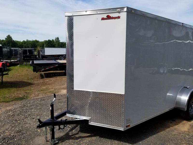 2018 Doolittle Trailer Mfg Razorback 6x12SA White Ramp Door Enclosed Cargo Trailer