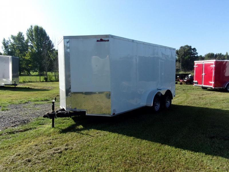 2018 Razorback 7X14TA WHITE RAMP DOOR