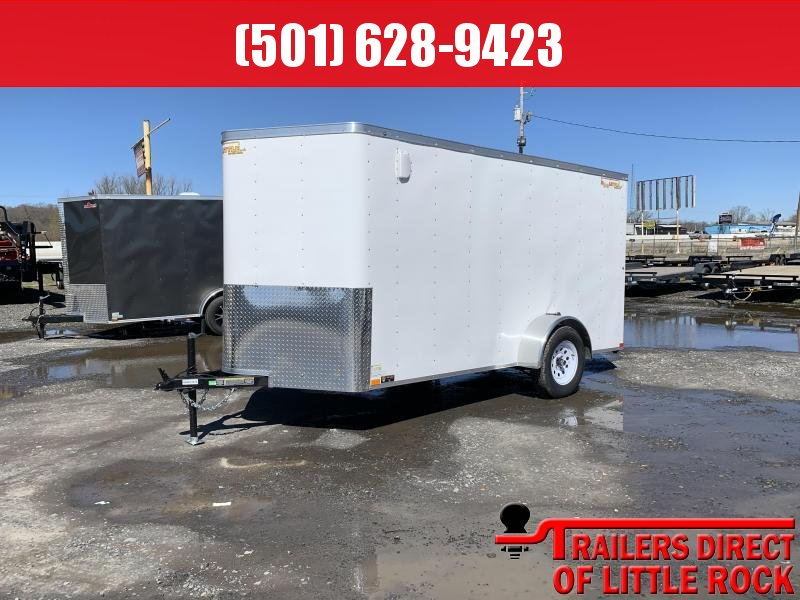 2019 Doolittle Trailer Mfg 6x12SA White Ramp Door Enclosed Cargo Trailer