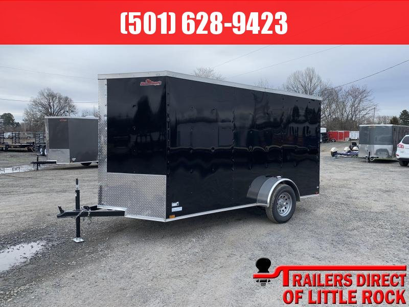 2019 Doolittle Trailer Mfg Razorback 6X12SA  BLACK RAMP DOOR Enclosed Trailer