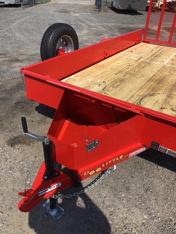 2020 DooLitttle Trailers Solid Side 77x12 S/A Utility Trailer