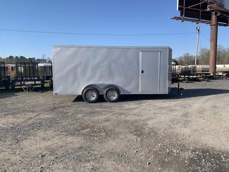 2019 Doolittle Trailer Mfg Razorback 7X16TA Silver Ramp Door Enclosed Cargo Trailer