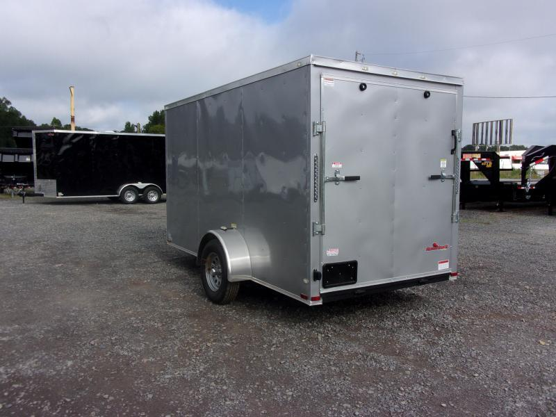 2019 Doolittle Trailer Mfg Razorback 6x12SA Silver Ramp Door Enclosed Cargo Trailer